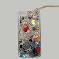 Bling Swarovski crystal cases Panda diamond cover for iPhone 6S - Black