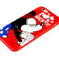Cartoon Cover Disney Mickey Mouse Silicone Cases Shell for iPhone 6S - Red