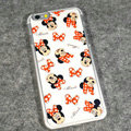 Cartoon Minnie Mouse Covers Hard Back Cases Disney Printing Shell for iPhone 6S - White