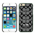 Classic Coach Covers Hard Back Cases Protective Shell Skin for iPhone 6S Black - Black