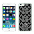 Classic Coach Covers Hard Back Cases Protective Shell Skin for iPhone 6S Black - White