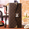 Classic LV Floral High Quality Leather Flip Cases Holster Covers for iPhone 6S - Brown