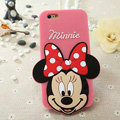 Cute Cartoon Cover Disney Minnie Silicone Cases Skin for iPhone 6S - Pink