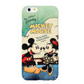 Genuine Cartoon Mickey & Minnie Mouse Covers Plastic Back Cases Matte for iPhone 6S - Mint