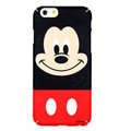 Genuine Cute Mickey Mouse Covers Plastic Back Cases Cartoon Matte PC for iPhone 6S - Black