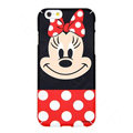 Genuine Cute Minnie Mouse Covers Plastic Back Cases Cartoon Matte PC for iPhone 6S - Red