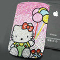 Luxury Bling Holster Covers Hello kitty diamond Crystal Cases for iPhone 6S - Pink EB003