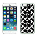Luxury Coach Covers Hard Back Cases Protective Shell Skin for iPhone 6S Black - White