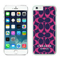 Luxury Coach Covers Hard Back Cases Protective Shell Skin for iPhone 6S Rose - White