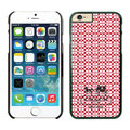 Plastic Coach Covers Hard Back Cases Protective Shell Skin for iPhone 6S Red - Black