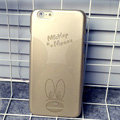 Plastic Mickey Mouse Covers Hard Back Cases Cartoon Shell Skin for iPhone 6S - Gold