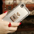 Pretty Swarovski Bling Crystal Perfume Bottle Bumper Frame Case Cover for iPhone 6S - White