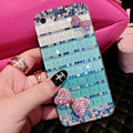 Pretty Swarovski Bling Rhinestone Case Bowknot Cover for iPhone 6S - Green