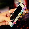 Pretty Swarovski Bling Rhinestone Metal Bumper Frame Case Cover for iPhone 6S - Colourful