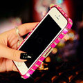 Pretty Swarovski Bling Rhinestone Metal Bumper Frame Case Cover for iPhone 6S - Rose