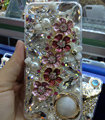 Swarovski crystal cases Bling Flowers diamond cover for iPhone 6S - Pink