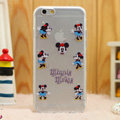 Transparent Cover Disney Minnie Mouse Silicone Cases TPU for iPhone 6S - White