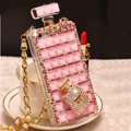 Unique Swarovski Bling Rhinestone Case Perfume Bottle Cover for iPhone 6S - Pink