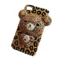 Bling 3D Bear Crystal Case Luxury Cover for iPhone 7 - Brown