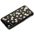 Brand Mickey Mouse Covers Plastic Back Cases Cartoon Cute for iPhone 7 - Black
