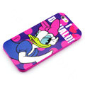 Cartoon Cover Disney Donald Duck Silicone Cases Skin for iPhone 7 - Rose