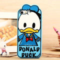 Cartoon Donald Duck Cover Disney Graffiti Silicone Cases Skin for iPhone 7 - Blue