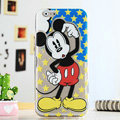 Cartoon Star Cover Disney Mickey Mouse Silicone Cases Skin for iPhone 7 - Yellow