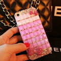 Funky Swarovski Bling Rhinestone Case Bowknot Diamond Cover for iPhone 7 - Rose
