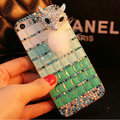 Funky Swarovski Bling Rhinestone Case Fox Diamond Cover for iPhone 7 - Green