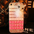 Funky Swarovski Bling Rhinestone Case Fox Diamond Cover for iPhone 7 - Pink