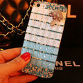 Funky Swarovski Bling Rhinestone Case Umbrella Diamond Cover for iPhone 7 - Blue