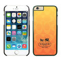 Luxury Coach Covers Hard Back Cases Protective Shell Skin for iPhone 7 Orange - Black