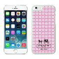 Plastic Coach Covers Hard Back Cases Protective Shell Skin for iPhone 7 Pink - White