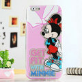 Cartoon Cute Cover Disney Minnie Mouse Silicone Cases Skin for iPhone 6 4.7 - Pink
