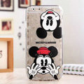 Cute Cover Disney Mickey Mouse Silicone Case Minnie for iPhone 6 4.7 - Transparent