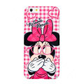 Genuine Cute Glasses Minnie Mouse Covers Plastic Back Cases Cartoon Matte for iPhone 6 4.7 - Pink