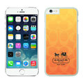 Luxury Coach Covers Hard Back Cases Protective Shell Skin for iPhone 6 4.7 Orange - White