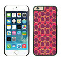 Luxury Coach Covers Hard Back Cases Protective Shell Skin for iPhone 6 4.7 Red - Black
