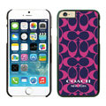 Luxury Coach Covers Hard Back Cases Protective Shell Skin for iPhone 6 4.7 Rose - Black