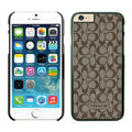 Personalized Coach Covers Hard Back Cases Protective Shell Skin for iPhone 6 4.7 - Black