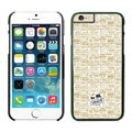 Plastic Coach Covers Hard Back Cases Protective Shell Skin for iPhone 6 4.7 Beige - Black