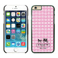 Plastic Coach Covers Hard Back Cases Protective Shell Skin for iPhone 6 4.7 Pink - Black