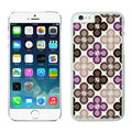 Quality Coach Covers Hard Back Cases Protective Shell Skin for iPhone 6 4.7 Flower - White
