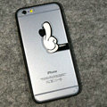 TPU Cover Disney Mickey Mouse Hand Silicone Case for iPhone 6 4.7 - Transparent