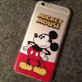 TPU Cover Disney Mickey Mouse Silicone Case Akimbo for iPhone 6 4.7 - Transparent