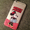 TPU Cover Disney Mickey Mouse Silicone Case Polka Dots for iPhone 6 4.7 - Transparent