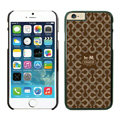 Tailor Made Coach Covers Hard Back Cases Protective Shell Skin for iPhone 6 4.7 Brown - Black