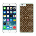 Tailor Made Coach Covers Hard Back Cases Protective Shell Skin for iPhone 6 4.7 Brown - White