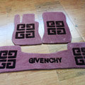 Givenchy Tailored Trunk Carpet Cars Floor Mats Velvet 5pcs Sets For Mercedes Benz GLA45 AMG - Coffee