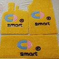 Cute Tailored Trunk Carpet Cars Floor Mats Velvet 5pcs Sets For BMW 545i - Yellow